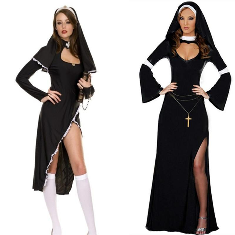 b6d0d28c7 Nun Fancy Dress Ladies Religious Sister Adults Saints   Sinners Costume  Outfit 3 Person Costumes Theater Costumes From Caicloth