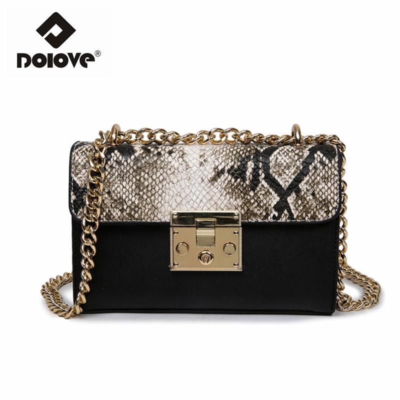 9da07fec3f5f Dolove 2017 New Chain Women Bag Leopard Messenger Bag Fashion One ...