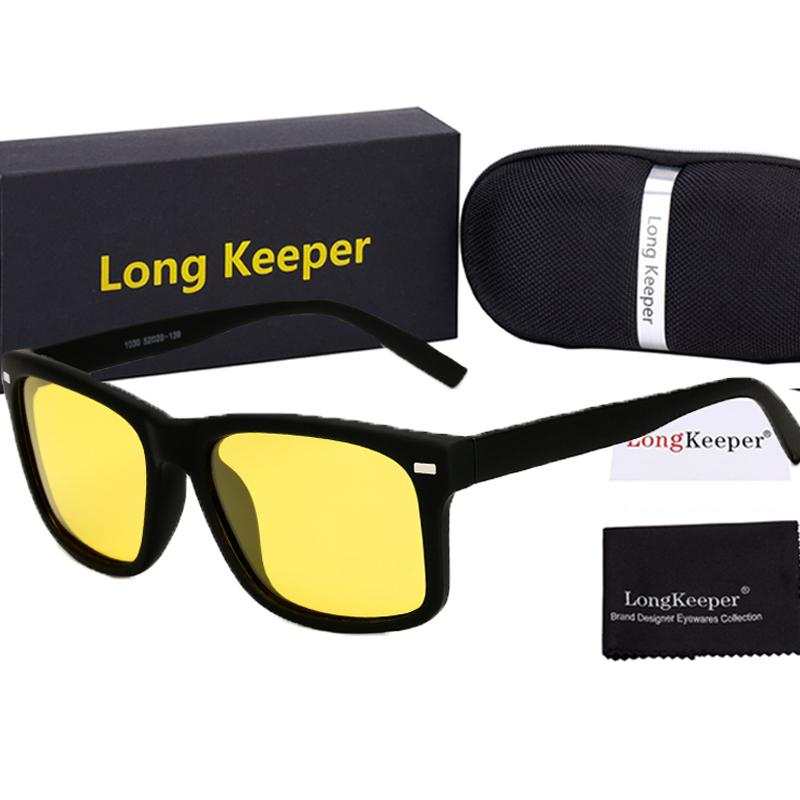 4235db35b30 2018 Men s Polarized Men Sunglasses Yellow Lens Night Driving Glasses Brand  Designer Goggles Male Anti Glare Eyewears With Case Heart Shaped Sunglasses  ...