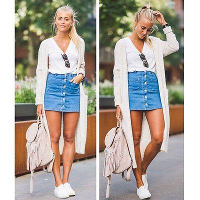 45894f488a 20182017 Summer Fashion Women Skirts Denim High Waist Bodycon Bandage  Stretch Pencil Short Mini Skirt Fashion Women High Online with  8.06 Piece  on ...