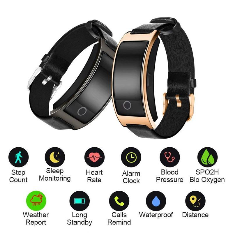 CK11S Smart Wristband Fitness Tracker Wristband IP67 Impermeabile Sport Band Blood Pressure Monitor Step Rate per iOS Android