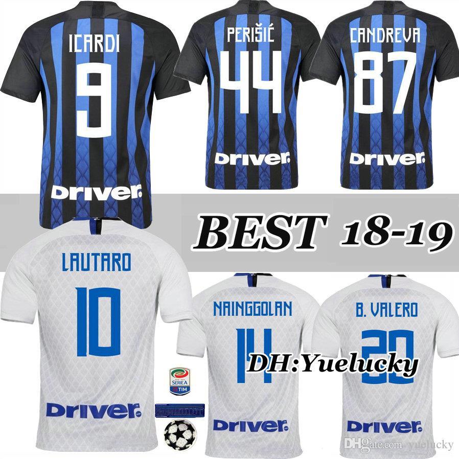 272121f888e 18 19 ICARDI Home Soccer Jersey 2018 2019 TOP QUALITY PALACIO ...