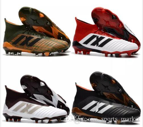 Wholesale Mens Football Boots Predator 18+x FG High Top Socks Soccer Cleats Cheap Soccer Shoes New Hot Sport Sneakers Size 35-45 find great footlocker finishline cheap price 7RkvY7