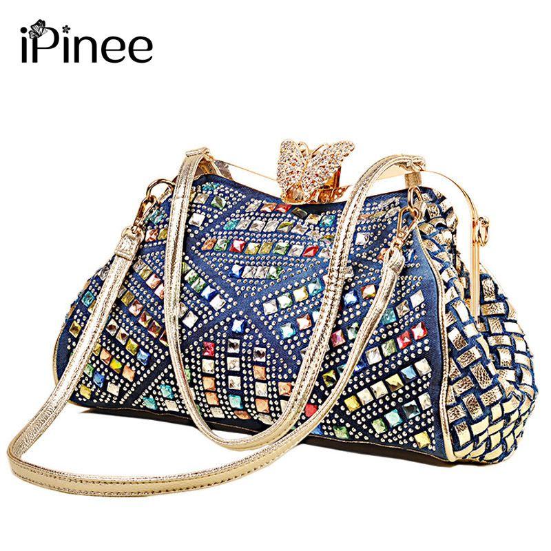 db5fbd19d020 IPinee Ladies Handbags Women Fashion Bags Brand Design Women  Shoulder Bags  Denim Rhinestones Decorative Y18102603 Cheap Bags Cheap Designer Bags From  Gou03 ...