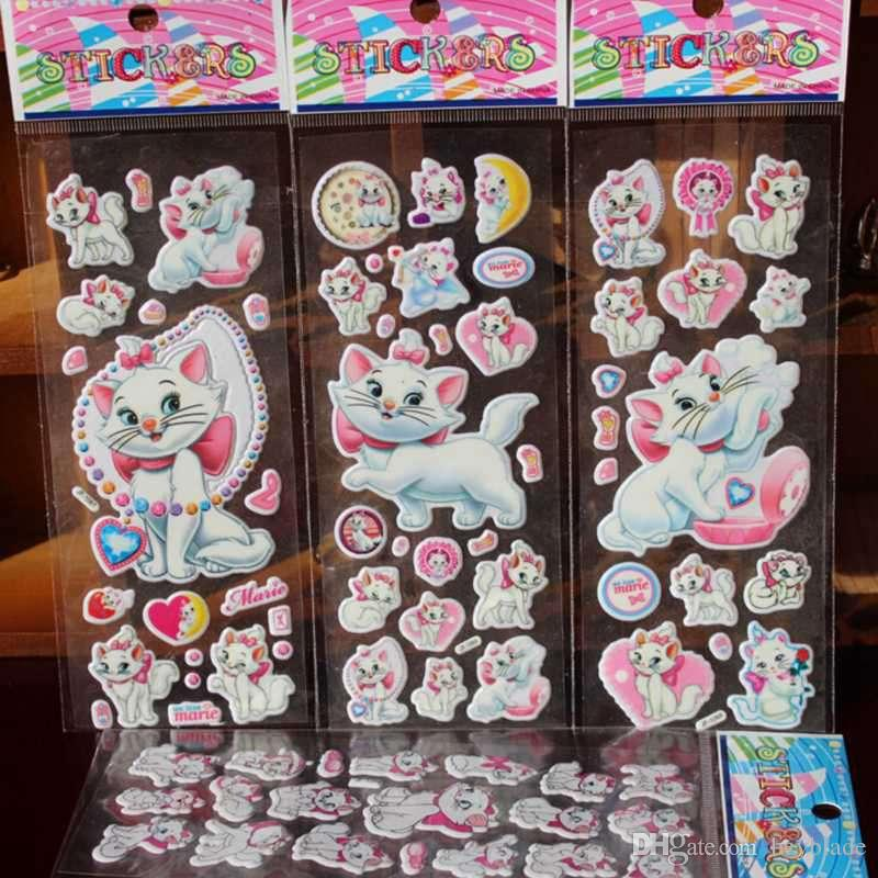 2018 Wholesale Cartoon Marie Cat Pattern Bubble Stickers Classic