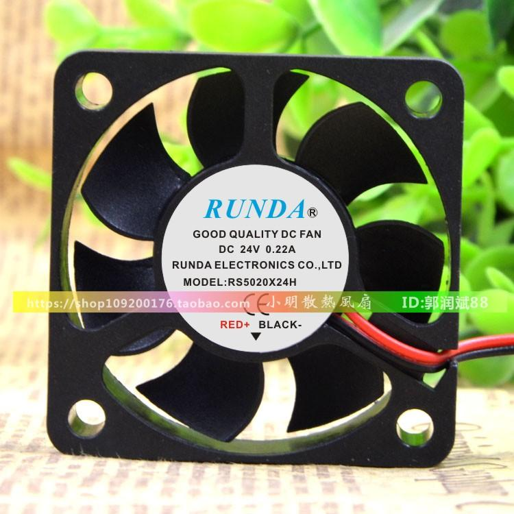 For RUNDA Runda 5CM 5020 24V 0 22A RS5020X24H Inverter Cooling Fan Fan
