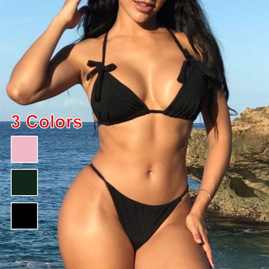 e4e4f86fe0454 Sexy Brazilian Push Up Bikini Set Bikinis Women 2018 Thong Bikini ...