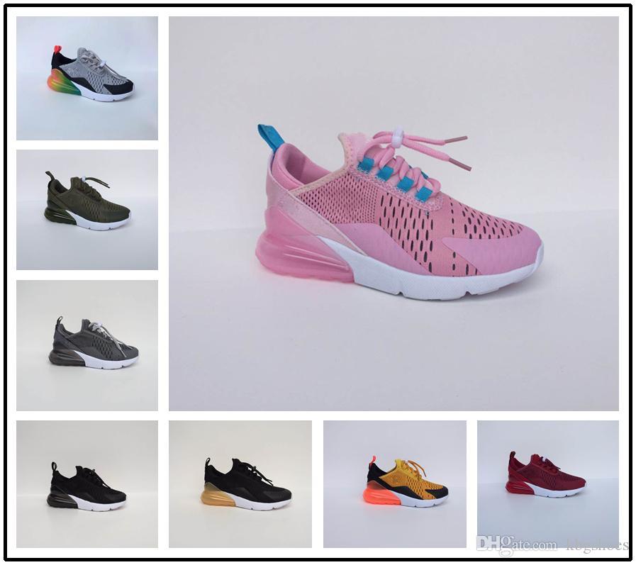 various colors 6364f 81cf7 Compre Nike Air Max Airmax 270 New Infant 270 Zapatos Para Correr Para Niños  Negro Blanco Dusty Cactus 27c Niño Al Aire Libre Niño Atlético Niña Niños  ...