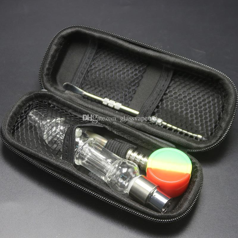 Hot Sale Smoking Pipes New Design Glass Bong Kit With Thread 510 Titanium Nail Honey Straw Glass Pipes For Oil Rig