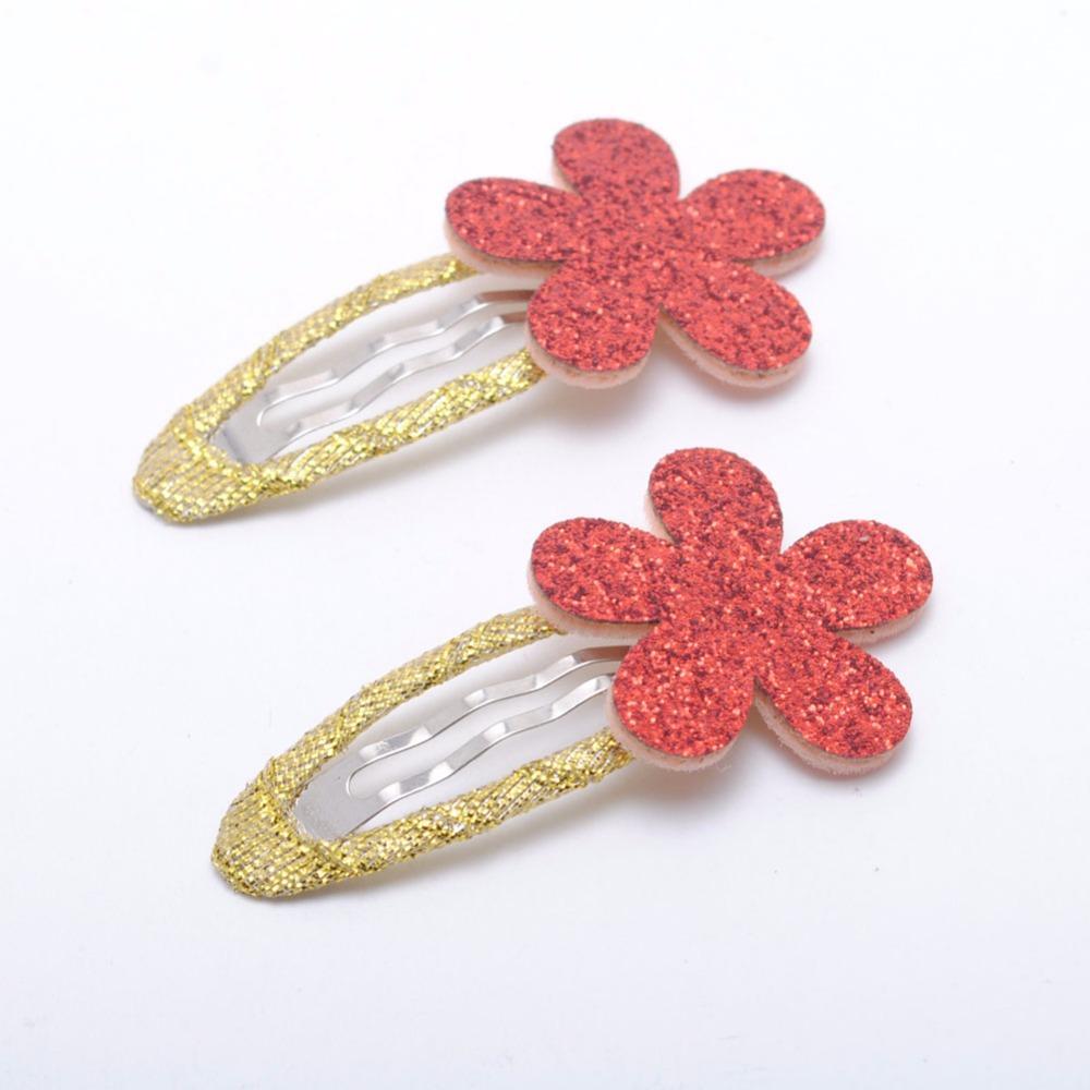 7 adet / grup Kızlar Tokalar Glitter Çiçek Şekli Doğum Günü Hediyesi Bebek Kız Saç Aksesuarları Çocuklar Çocuklar Için Saç Klipler