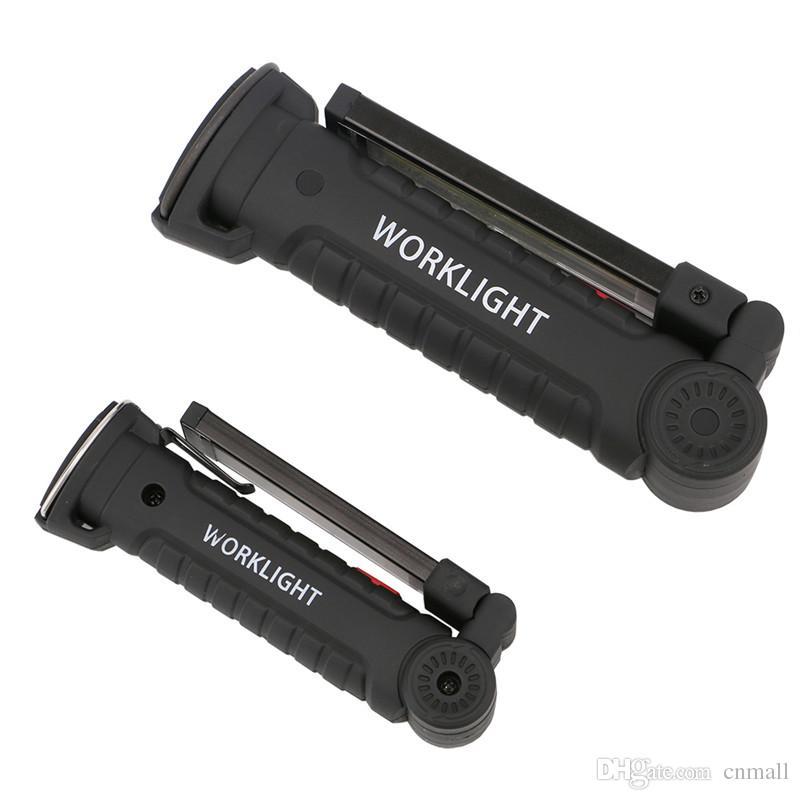 Portátil 5 Modo COB Linterna Antorcha USB Recargable Luz de Trabajo Magnética COB Lanterna Colgando Lámpara de Gancho Para Acampar al aire libre