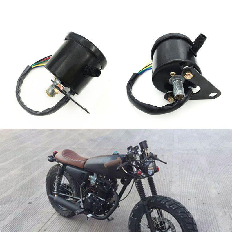 TKOSM Motocicleta Velocímetro Cuentakilómetros Calibrador ATV Scooter Retroiluminado Medidor de Velocidad Dual con Indicador LED DC 12V 0 ~ 160km / h