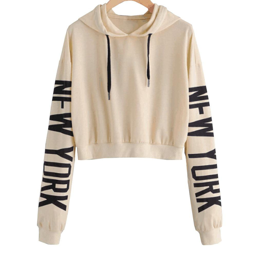 Women Fashion Casual Loose Punk Hooded Hoodie Long Sleeve Stylish Crop Top  Spring Autumn Thin Sweatshirt Tracksuit UK 2019 From Dalivid 3b17ce06a