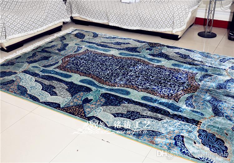 Tappeto Moderno Turchese : Acquista mingxin piedi di colore blu tappeto moderno