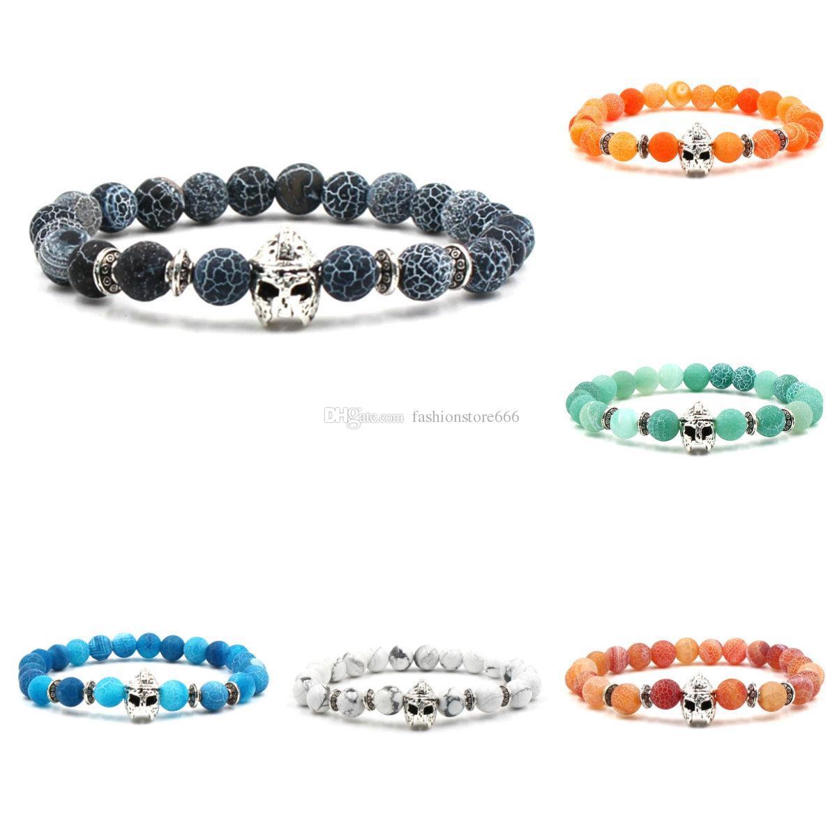 Grosshandel Achat Stein Armband Grau Grun Orange Blau Verwitterung