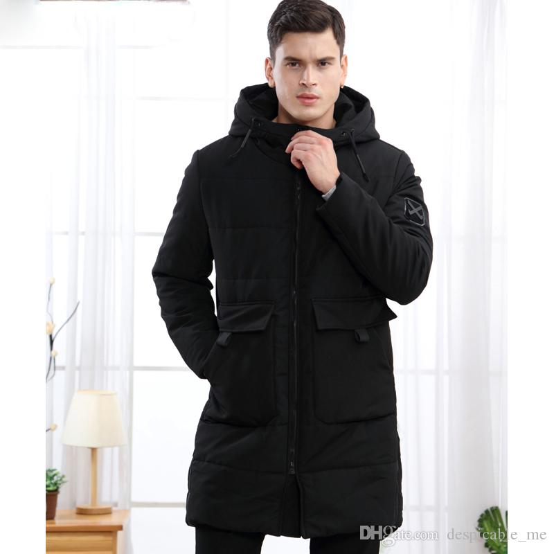 Winterjas Parka.2019 Autumn Winter Jacket Men Parka Medium Long Coat Korean Thick