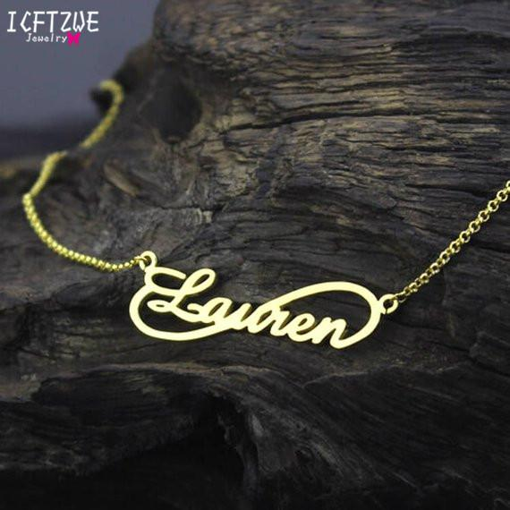 Compre Corrente De Ouro Personalizado Gargantilha Infinito Charme ... ac4dd22924
