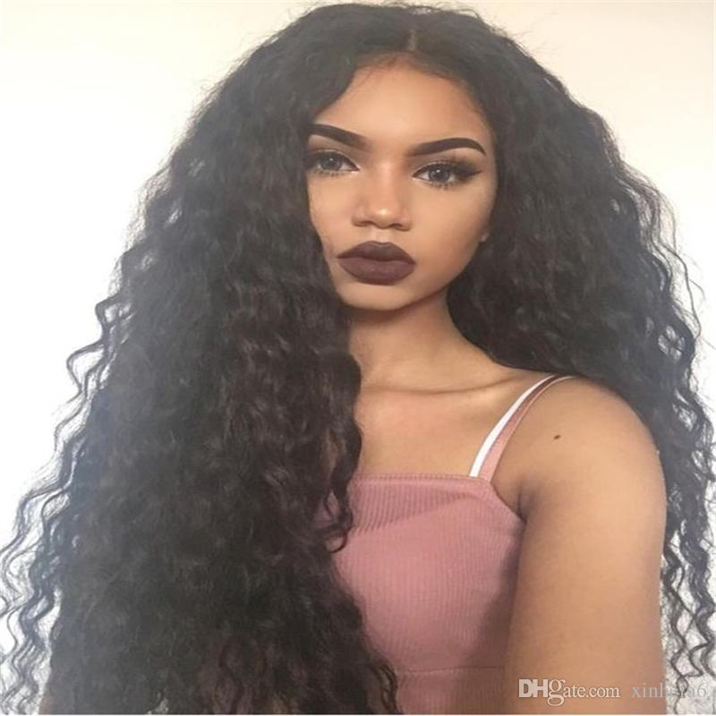 new style 8a deep wavy wig brazilian virgin hair full lace wigs for black women lace front human hair loose deep wave wigs
