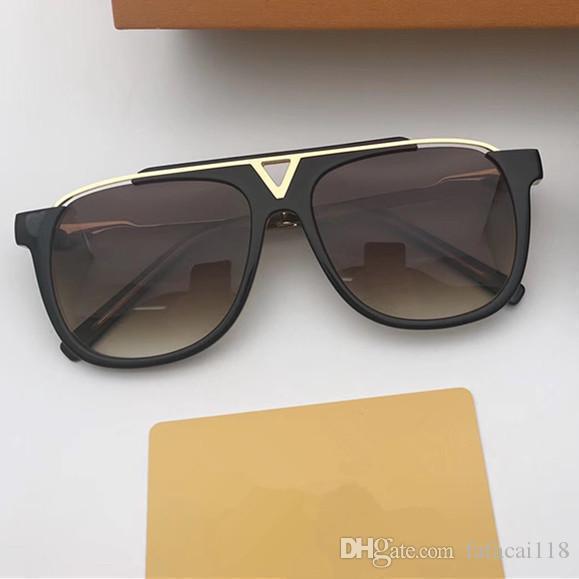 603d8d5647211 Compre Mais Recente Venda De Moda Popular Homens Designer De Óculos De Sol  Mascote Placa Quadrada De Metal Combinação Quadro Uv 400 Eyewear Ao Ar  Livre Com ...