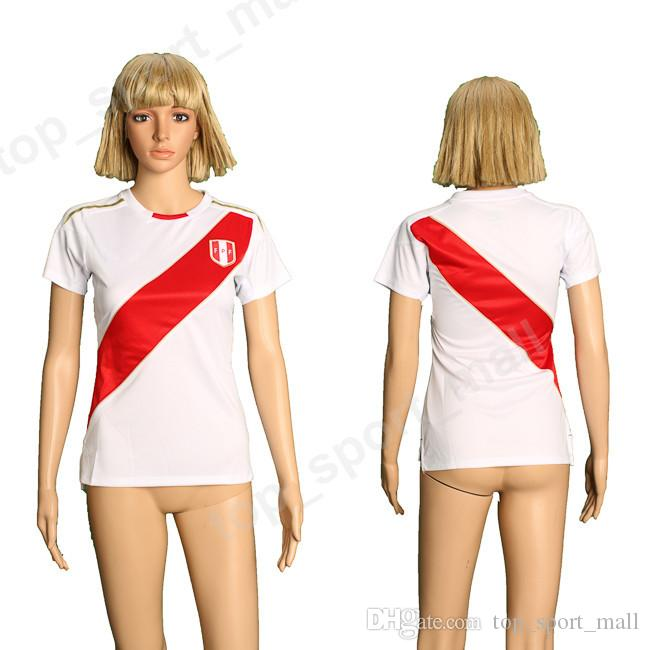 Women Peru Soccer Jersey 2018 World Cup 7 HURTADO 8 CUEVA 9 GUERRERO ... f114407c84