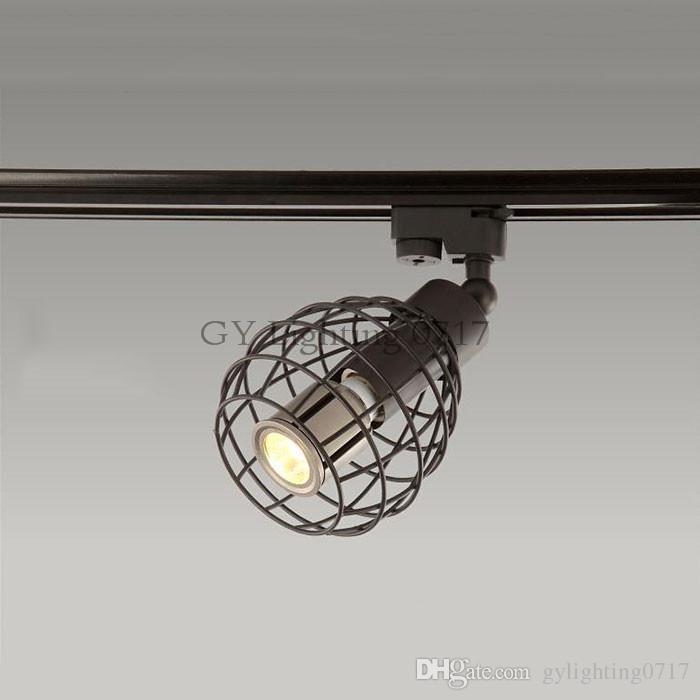rail de plafond rustique noir de rail de plafond de l'ÉPI 10W de lumière de voie de LED projecteur pour la cuisine fixe habillement chaussures magasins magasins voie d'éclairage