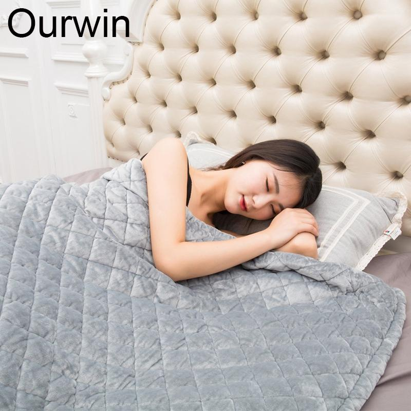 Weighted Blanket Quilt For Adults Promote Deep Sleep Relief Stress