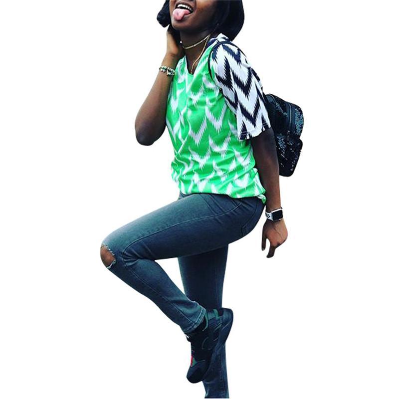 fb2f9d83601 2018 World Cup Nigeria Soccer Jerseys Tees T Shirt Football National Team  Fashion Women Girls Short Sleeve Green Color Match Tops T Shirt Best Tee  Shirts T ...
