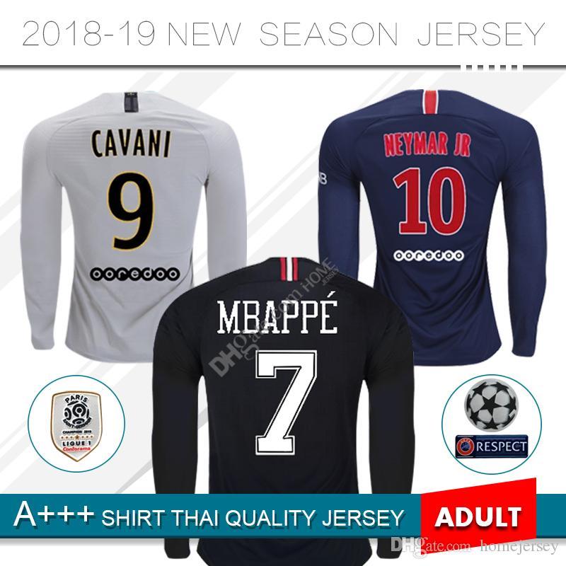 Paris Maillot Mbappe Soccer Jerseys 2018 2019 PSG Long Sleeve ... 92d75a558