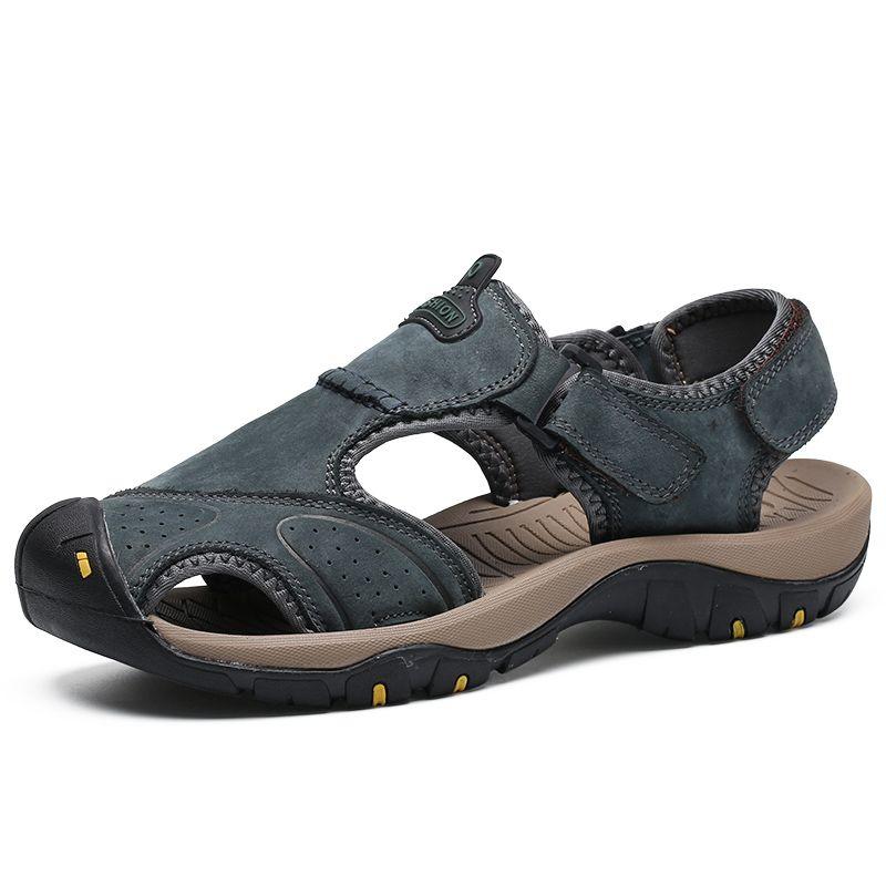 cheap for discount 4c052 9576e Sandali da escursione estivi per uomo Calzature da trekking traspiranti  Calzature sportive Sneaker da campeggio in pelle Leggera scarpa da trekking  da ...