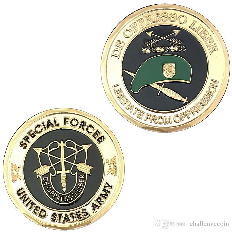 The Sample Order,Free Shipping,Army Special Forces Green Beret Challenge  Coin