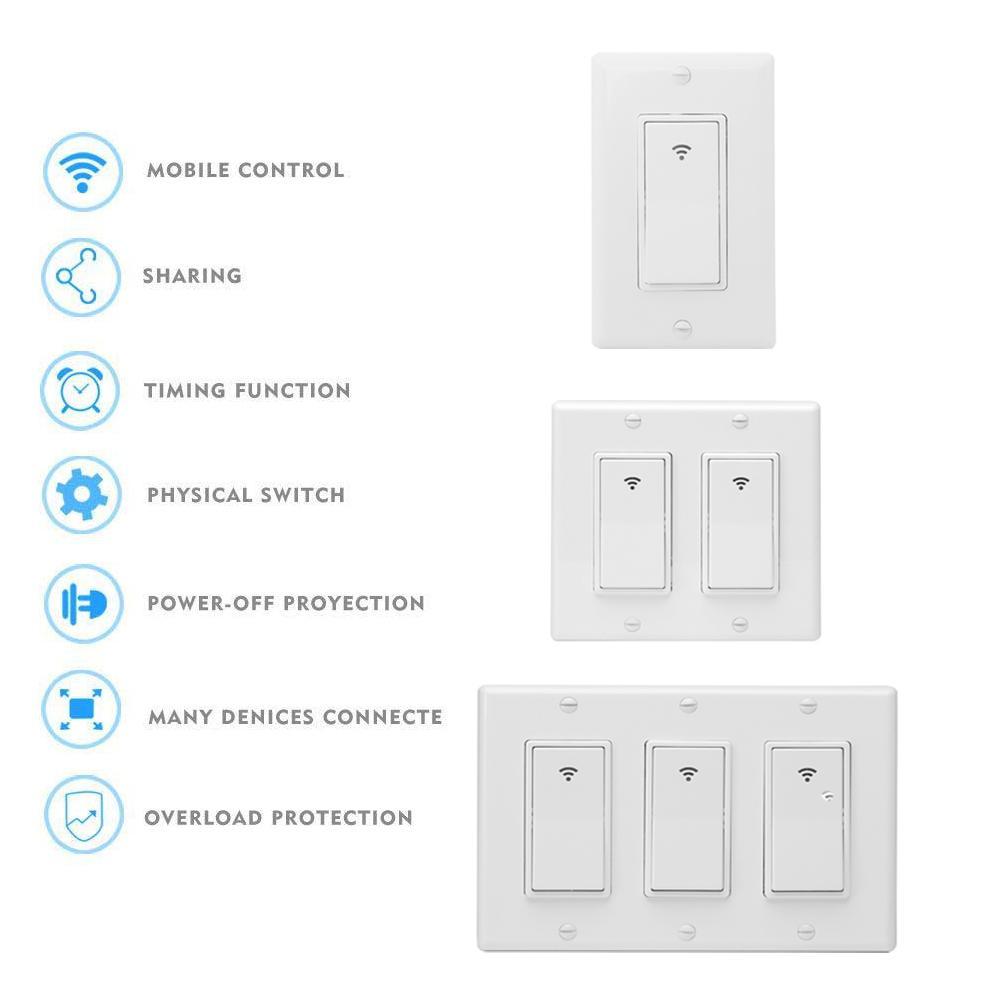 Häufig Großhandel SONOFF WiFi Smart Home Wand Lichtschalter Timing ED07