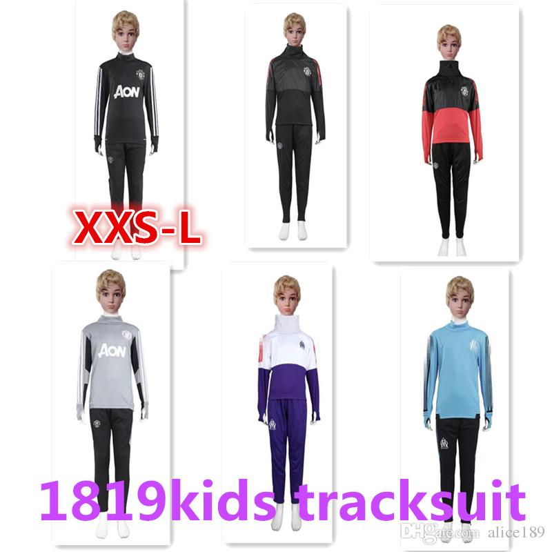 2017 2018 Kids Long Sleeve Tracksuit Jogging Boys Soccer Kit ... 8b2dae65d2c7c