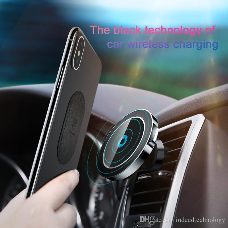 Baseus Magnetic Car Mount Phone Holder Stand For Iphone X 8 Samsung