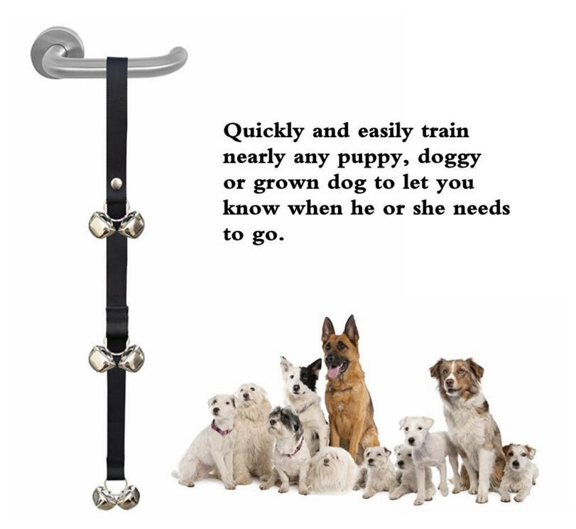 Pet Doorbell Rope Dog Toy House Training And Communicate Alarm Door Bell For Dogs Convenient And Practical Pet Supplies