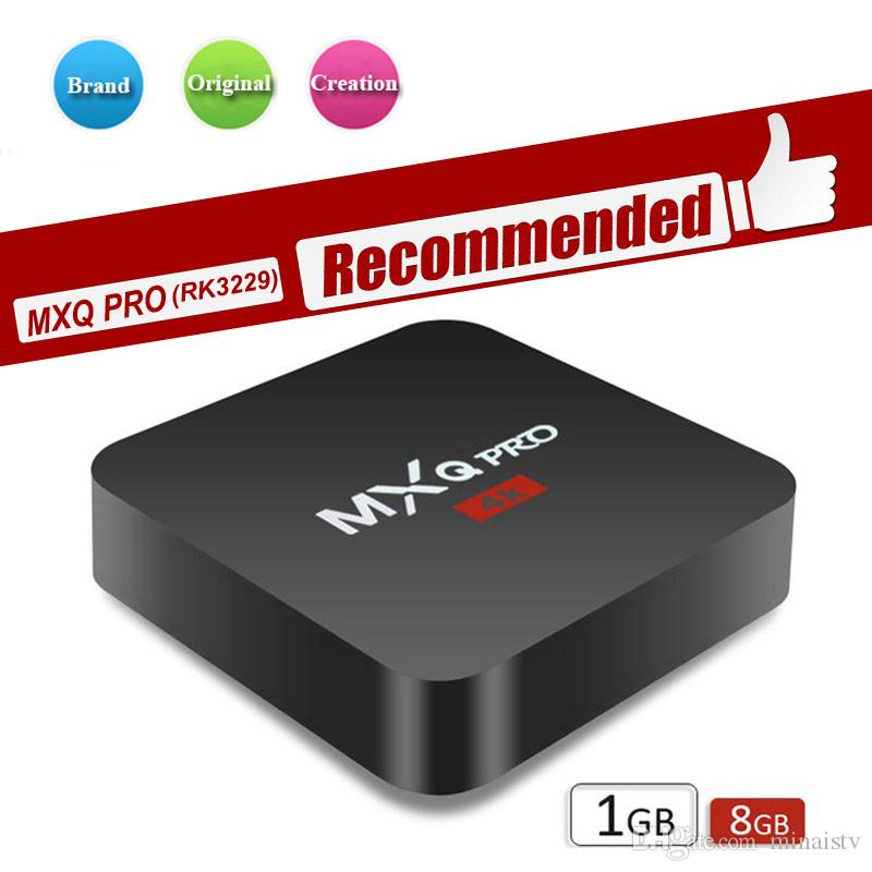 2019 Novo MXQ PRO 4 K M9S V3 V5 X9 RK3229 Android Tv Box Quad Núcleo 1G 8G Android 7.1 Streaming Media Player Suporte Wi-fi Inteligente Ott Set Top Box