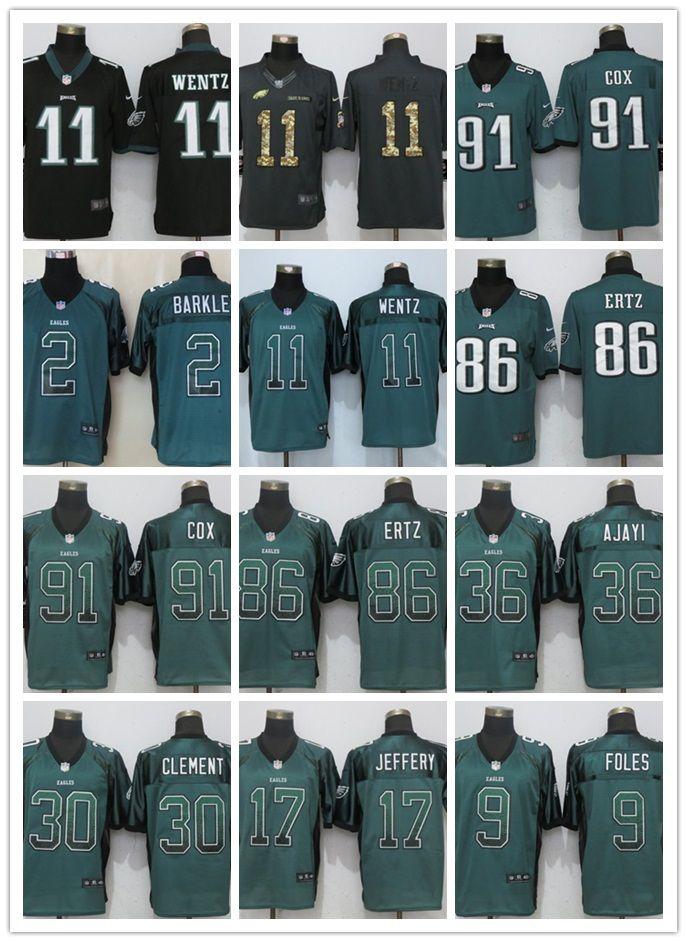 2018 Philadelphia Eagles Jersey 11 Carson Wentz 9 Nick Foles 20 Brian  Dawkins Men S Football Jerseys Top Quality From Cunzen159 60646e00d