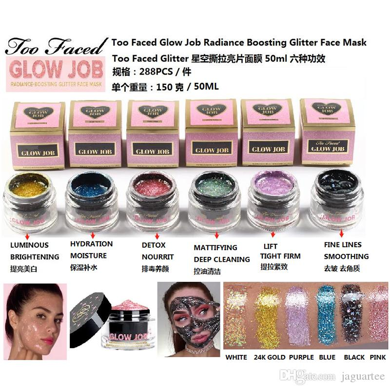 50ml Radiance Boosting glow job mask Glitter face mask 30 minutes long time relaxing smooth soft facial reveal