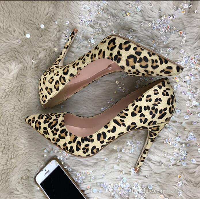 In 2018, large size 34-44 suede shoes, shoes with a height of 12 cm 10cm 8cm high heels fashion sexy shoes.