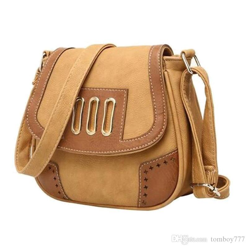 15911e54a4 Lady Hot New Sweet Hollow PU Leather Bag Women Vintage Shoulder Bags Fashion  Free Style Bag Solid Crossbody Bags Ladies Bags Backpack Purse From  Tomboy777
