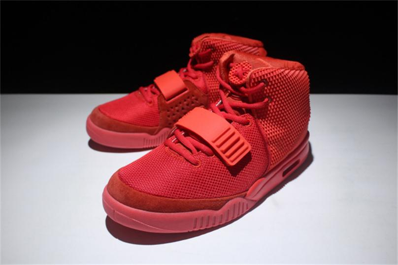 a65bde4fa13ea 2019 2018 New Release Air AA2Yeezy 2 NRG Red October Basketball Shoes Men  Kanye West Pure Platinum Wolf Grey Solar Black Red Authentic Sneakers From  Polishe ...