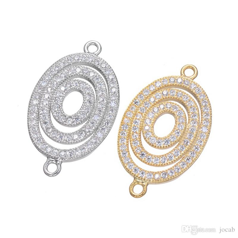 Wholesale Handmade DIY Jewelry Accessories 2018 Luxury Design Zircon Bracelets Pendant Charms Connectors Findings Clasps Components Fittings