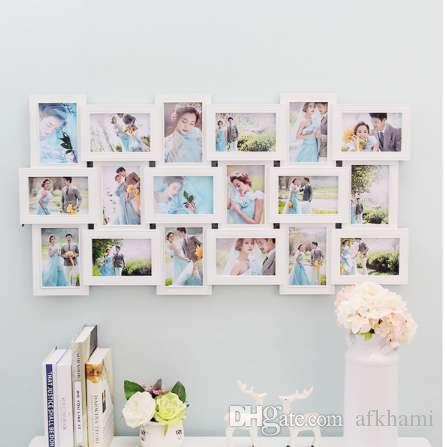 Bon 2019 18 Photos Frame Wall Decoration Multi Pictures Frame Collage Aperture  DIY Home Decor For Living Room Bedroom Wall Decals 90x47cm From Afkhami, ...
