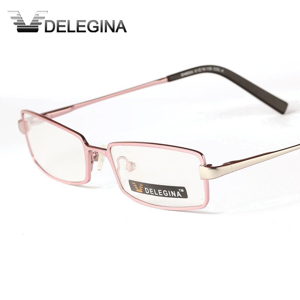 Compre Delegina Pink Ladies Optical Eyeglasses Marco Para Mujeres ...