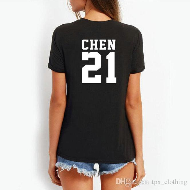 Grosshandel Chen T Shirt Coole Worter Exo Gruppe 21 Kim Jong Dae