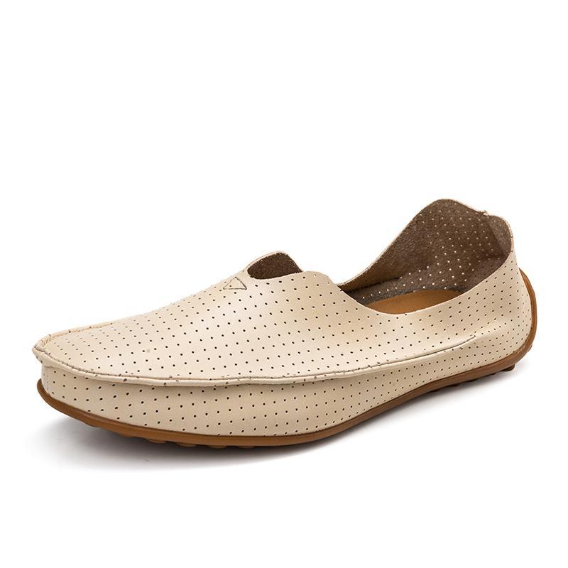 new product 2de26 8ad4d Acheter 36 ~ 47 Chaussures Mâles À Enfiler Pour Hommes Chaussures D été En  Cuir Pour Hommes Confortables Respirant De  35.67 Du Shinysun   DHgate.Com