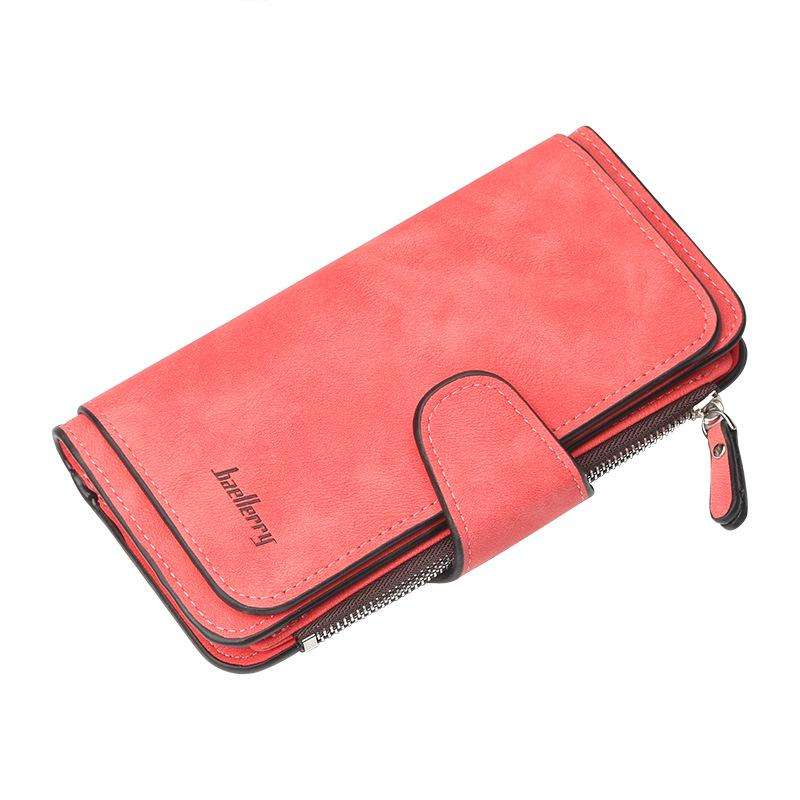 01c47da867e High Quality Leather Women Wallet Design Hasp Solid Color Card Bags ...