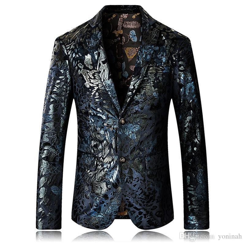 Venta al por mayor envío gratuito de alta calidad de los hombres de lujo Tuxedo Blazer Slim Fit traje único para hombre Blazers chaquetas Wedding Party Shows vestido de ropa