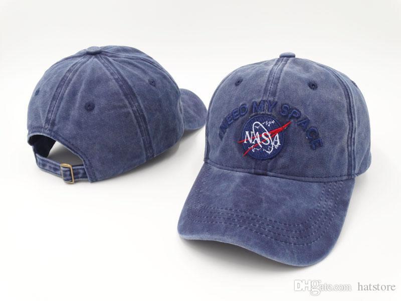 8ad44d1e97a5ed Baseball Cap 100% Cotton NASA I NEED MY SPACE Embroidery Hats For Men 6  Panel Snapback Hat Men Casual Visor Gorras Bone Casquette Flat Caps Trucker  Caps ...