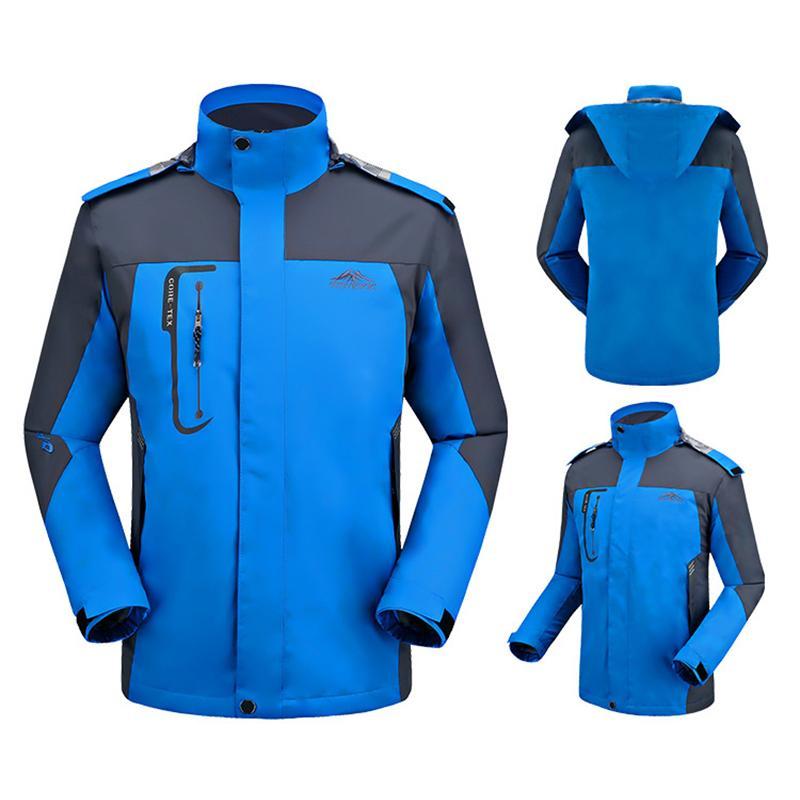 3033d5ea575 2019 Men S Waterproof Thin Jacket Outdoor Spring Windbreaker Camping Hiking  Fishing Softshell Windproof Jacket Men Rain Coat Big Size Y1893006 From ...