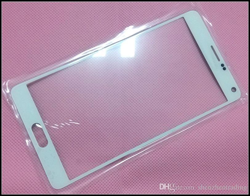Galaxy Note4 N9100 için dokunmatik Ekran Dış Cam Lens Değiştirme N910F Sayısallaştırıcı Kapak Lens Siyah Beyaz Renkler DHL Ücretsiz Kargo